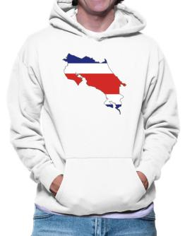Costa Rica - Country Map Color Simple Hoodie