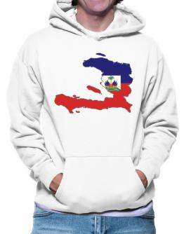 Haiti - Country Map Color Simple Hoodie