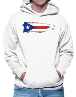 Puerto Rico - Country Map Color Simple Hoodie