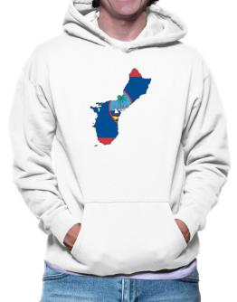 Guam - Country Map Color Simple Hoodie