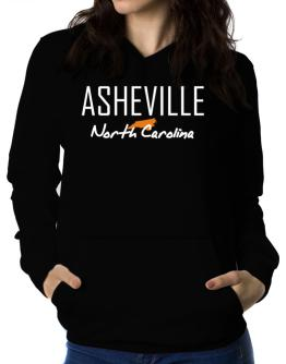 """"""" Asheville - State Map """" Women Hoodie"""