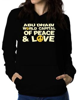 Abu Dhabi World Capital Of Peace And Love Women Hoodie