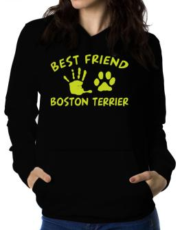 My Best Friend Is My Boston Terrier Women Hoodie