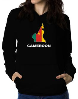 Cameroon - Country Map Color Women Hoodie