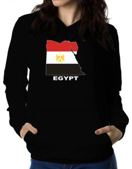 Egypt - Country Map Color Women Hoodie