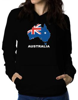 Australia - Country Map Color Women Hoodie
