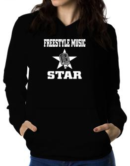 Freestyle Music Star - Microphone Women Hoodie