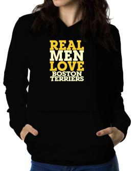 Real Men Love Boston Terriers Women Hoodie