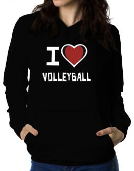I Love Volleyball Women Hoodie