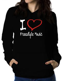 Polera Con Capucha de I Love Freestyle Music