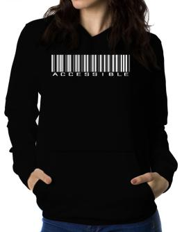 Accessible Barcode Women Hoodie