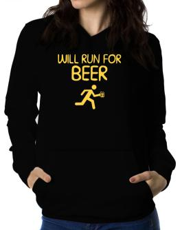 Will Run For Beer Women Hoodie