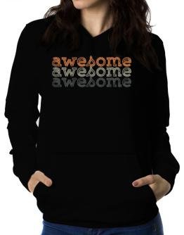 awesome repeat retro Women Hoodie
