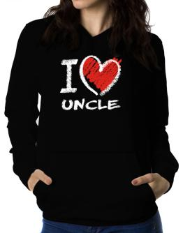 I love Auncle chalk style Women Hoodie