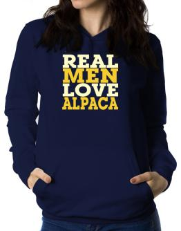 Real Men Love Alpaca Women Hoodie
