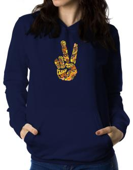 Peace Sign - Hand Collage Women Hoodie