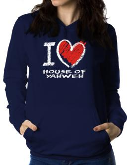 I love House Of Yahweh chalk style Women Hoodie