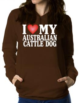 I Love Australian Cattle Dog Women Hoodie