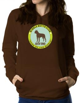 Boston Terrier - Wiggle Butts Club Women Hoodie