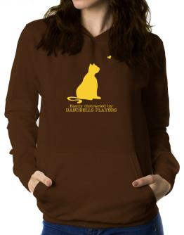 Easily Distracted By Handbells Players Women Hoodie