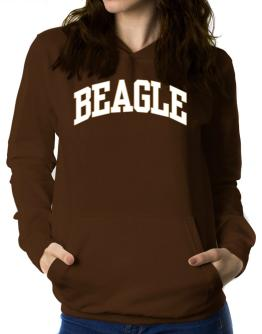Beagle Athletic Applique / Embroidery Women Hoodie