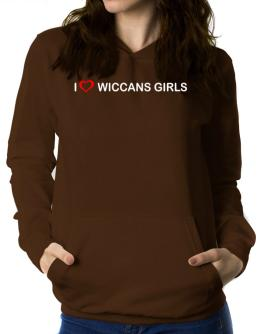 I love Wiccans Girls Women Hoodie