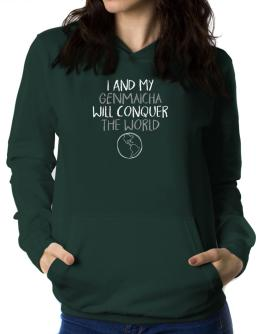 I and my Genmaicha will conquer the world Women Hoodie
