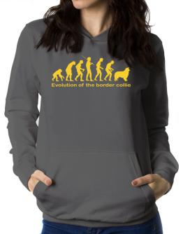 Evolution Of The Border Collie Women Hoodie