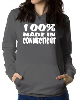 100% Made In Connecticut Women Hoodie