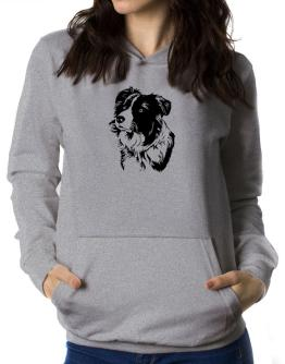 Border Collie Face Special Graphic Women Hoodie