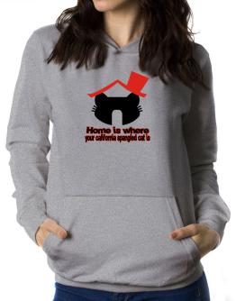 Home Is Where California Spangled Cat Is Women Hoodie
