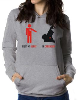 I Left My Heart In Cameroon - Map Women Hoodie