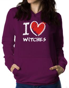 I love Witches chalk style Women Hoodie