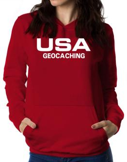 Usa Geocaching / Athletic America Women Hoodie