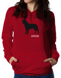 Australian Cattle Dog Stencil / Chees Women Hoodie