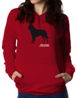 Belgian Malinois Stencil / Chees Women Hoodie