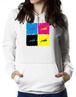 """ Aerobatics - Pop art "" Women Hoodie"
