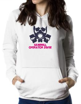 Sawmill Operator Zone - Gas Mask Women Hoodie