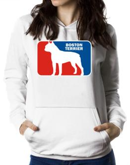 Boston Terrier Sports Logo Women Hoodie