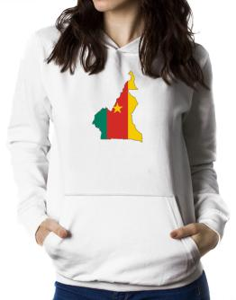Cameroon - Country Map Color Simple Women Hoodie