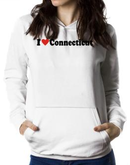 I Love Connecticut Women Hoodie