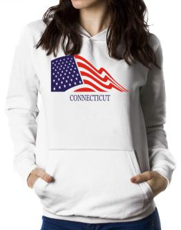 Flag Usa Connecticut Women Hoodie