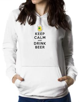 Keep calm and drink beer Women Hoodie