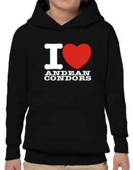 I Love Andean Condors Hoodie-Boys