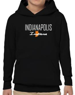 """"""" Indianapolis - State Map """" Hoodie-Boys"""