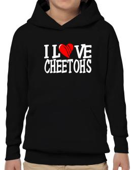 I Love Cheetohs - Scratched Heart Hoodie-Boys