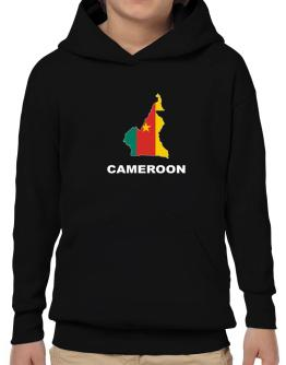 Cameroon - Country Map Color Hoodie-Boys