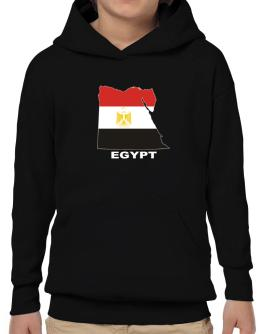 Egypt - Country Map Color Hoodie-Boys