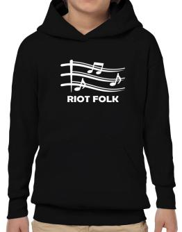 Riot Folk - Musical Notes Hoodie-Boys