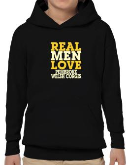Real Men Love Pembroke Welsh Corgis Hoodie-Boys